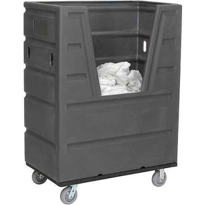 Global Industrial™ Gray Best Value Hopper Front Plastic Bulk Truck 43 Cu. Ft.