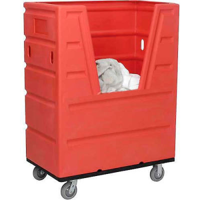 Red Best Value Hopper Front Plastic Bulk Truck 43 Cu. Ft.