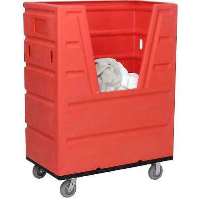 Global Industrial™ Red Best Value Hopper Front Plastic Bulk Truck 43 Cu. Ft.