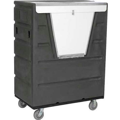 Global Industrial™ Gray Best Value Hopper Front Plastic Security Bulk Truck 43 Cu. Ft.