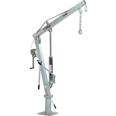 Galvanized Steel Winch Operated Pickup Truck Jib Crane WTJ-2-G 1000 Lb.