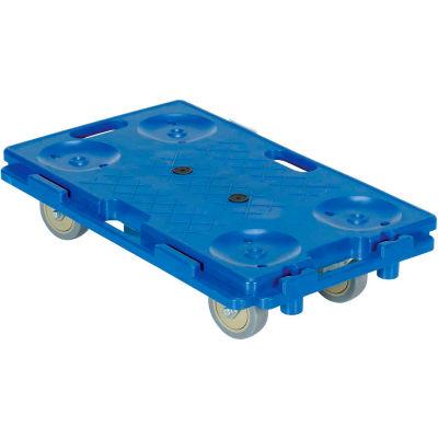 "Interlocking Plastic Dolly PCS-1626 26""L x 16""W 250 Lb. Capacity"