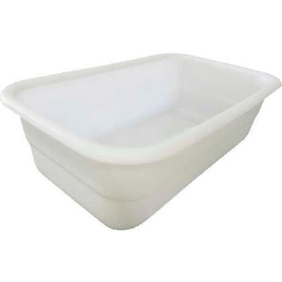 "Shirley K's Storage Trays 253PN Plastic Nesting Tote, FDA-USDA, 26-3/4""x16""x8-1/4"", Natural White"