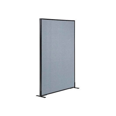 "Interion® Freestanding Office Partition Panel, 36-1/4""W x 60""H, Blue"