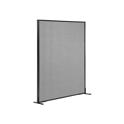 """Interion® Freestanding Office Partition Panel, 48-1/4""""W x 60""""H, Gray"""