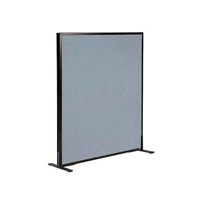 """Interion® Freestanding Office Partition Panel, 36-1/4""""W x 42""""H, Blue"""