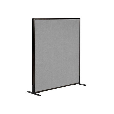 """Interion® Freestanding Office Partition Panel, 36-1/4""""W x 42""""H, Gray"""