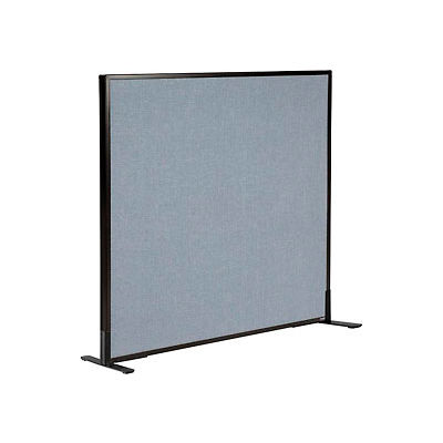 "Interion® Freestanding Office Partition Panel, 48-1/4""W x 42""H, Blue"