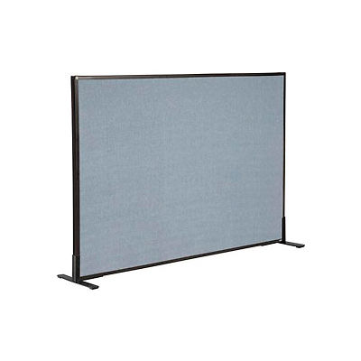 """Interion® Freestanding Office Partition Panel, 60-1/4""""W x 42""""H, Blue"""