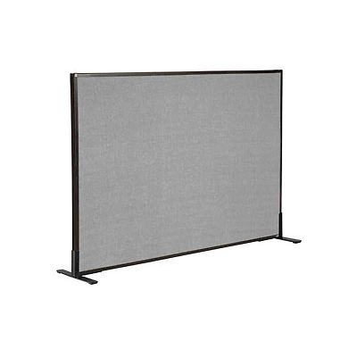 """Interion® Freestanding Office Partition Panel, 60-1/4""""W x 42""""H, Gray"""