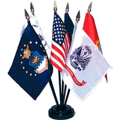 """Armed Forces Flag Set - 6 Flag Set - 4"""" x 6"""""""