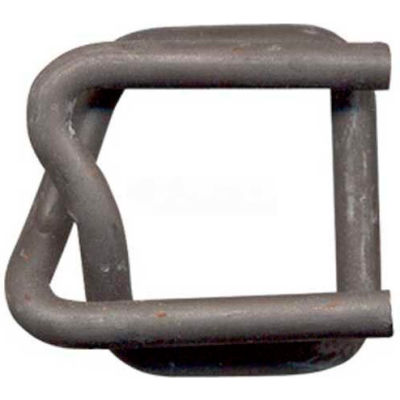 """Kubinec Strapping Phosphate Coated Woven Cord Strapping Buckles, 3/4"""" Strap Width, Pack of 1000"""