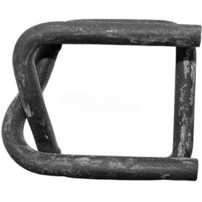 """Kubinec Strapping Phosphate Coated Woven Cord Strapping Buckles, 1-1/4"""" Strap Width, Pack of 500"""