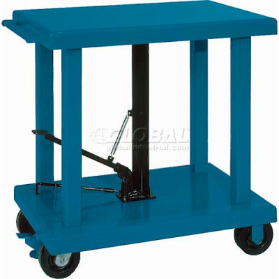 Wesco® Work Positioning Post Lift Table Foot Control 260065 48x32 2000 Lb.