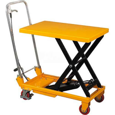 Wesco® Mobile Single Scissor Lift Table 260207 20x32 660 Lb. Capacity