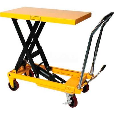 Wesco® Mobile Heavy Duty Scissor Lift Table 272973 2200 Lb. Capacity