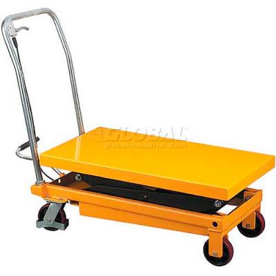 Wesco® Mobile Double Scissor Lift Table 260204 770 Lb. Capacity