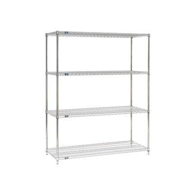 "Nexel® Stainless Steel Wire Shelving Starter 72""W x 24""D x 86""H"