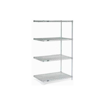 "Nexel® Stainless Steel Wire Shelving Add-On 36""W x 18""D x 86""H"