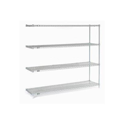 """Nexel® Stainless Steel Wire Shelving Add-On 60""""W x 18""""D x 86""""H"""
