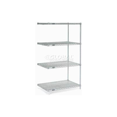 "Nexel® Stainless Steel Wire Shelving Add-On 36""W x 24""D x 86""H"