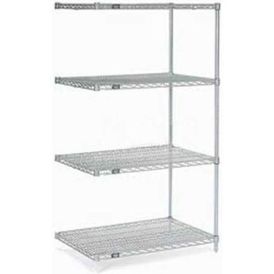 """Nexel® Stainless Steel Wire Shelving Add-On 48""""W x 24""""D x 86""""H"""