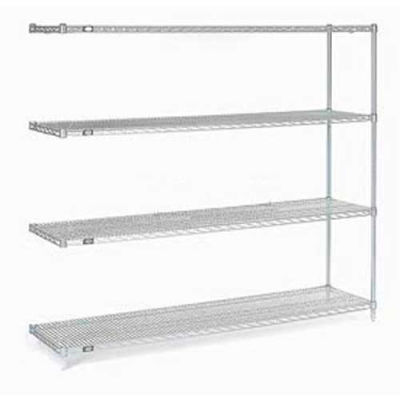"Nexel® Stainless Steel Wire Shelving Add-On 60""W x 24""D x 86""H"