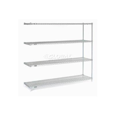 """Nexel® Stainless Steel Wire Shelving Add-On 72""""W x 24""""D x 86""""H"""
