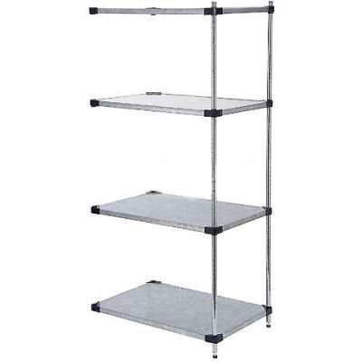 "Nexel® Galvanized Steel Solid Shelving Add-On 48""W x 24"" D x 54 ""H"