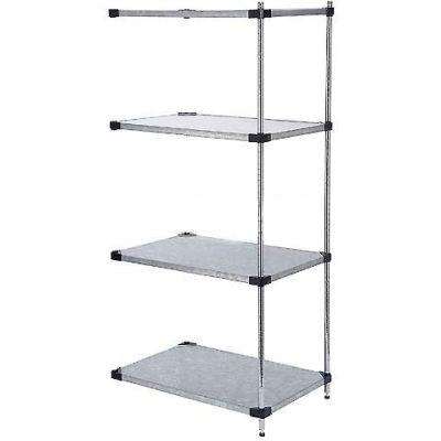 "Nexel® Galvanized Steel Solid Shelving Add-On 72""W x 24"" D x 54 ""H"