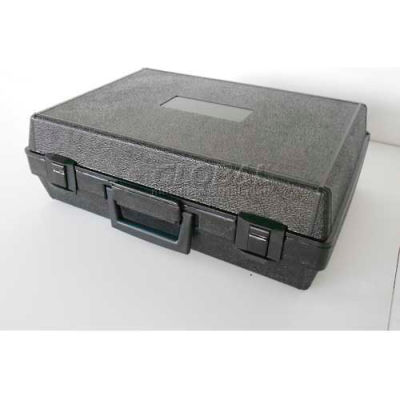 """Plastic Protective Storage Cases with Pinch Tear Foam, 17""""x12""""x5-1/2"""", Black"""