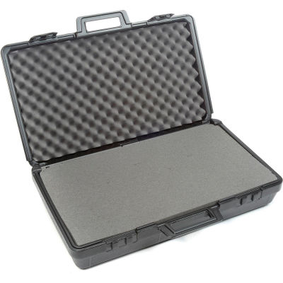 """Plastic Protective Storage Cases with Pinch Tear Foam, 27-1/2""""x16""""x7"""", Black"""