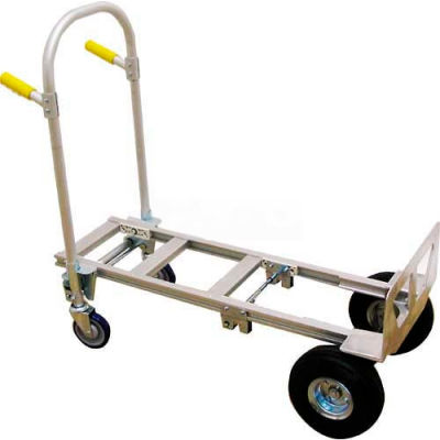 Wesco® Spartan Jr. Aluminum 2-in-1 Hand Truck 220145 No-Flat Wheels
