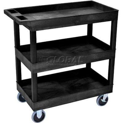 Luxor® EC111HD E-Series 3-Shelf Tub Cart 35-1/4 x 18 x 37-1/4, 500 Lb.Cap., Black