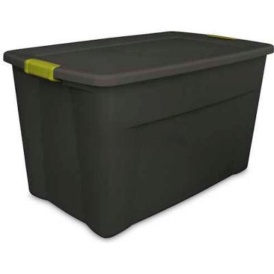 Sterilite 19453V04 Industrial Latch Tote 35 Gallon 32-1/2 X 19-3/4 X 18-5/8 Flat Gray - Pkg Qty 4