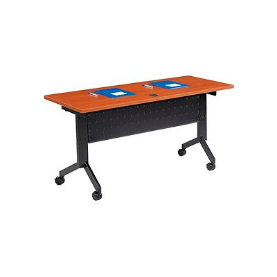 "Interion® Training Table - Flip-Top 60"" x 24"" - Cherry"