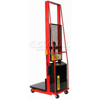 """Wesco® Battery Powered Lift Truck 261023 1000 Lb. 68""""H 24""""x24"""" Platform"""