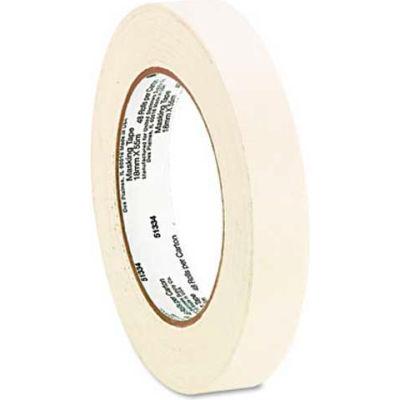 "Universal General Purpose Masking Tape, 3/4"" x 60yds, 3"" Core, 6/Pack"