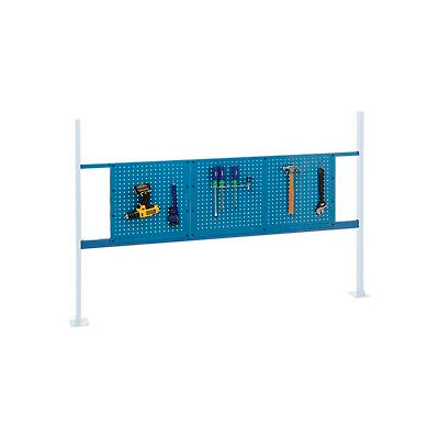 """Panel Kit for 72""""W Workbench with 18""""W and 36""""W Pegboards, Mounting Rail - Blue"""