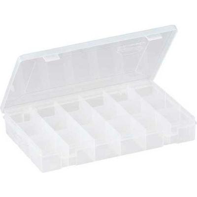 """Plano StowAway® 18 Fixed Compartment Box, 11""""L x 7-1/4""""W x 1-3/4""""H, Clear - Pkg Qty 6"""