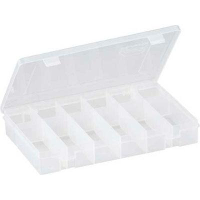 """Plano StowAway® 12 Fixed Compartment Box, 11""""L x 7-1/4""""W x 1-3/4""""H, Clear - Pkg Qty 2"""