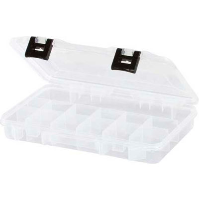 "Plano ProLatch™ Organizer 13 Fixed Compartment Box, 11""L x 7-1/4""W x 1-3/4""H, Clear - Pkg Qty 2"