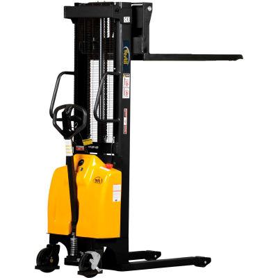 "Combination Battery Powered & Hand Pump Lift Stacker SE-HP-118 118"" Lift"