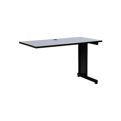 "48"" Right Handed Return Table, Gray"
