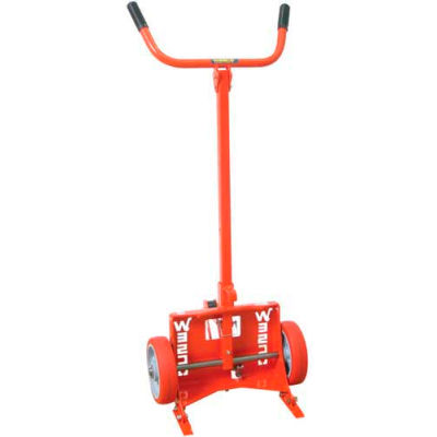Wesco® Knock-Down Drum Truck 240053 for Poly Drums Polyolefin Wheels