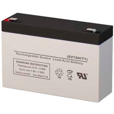 Lithonia ELB 0607 Replacement Battery, Lead Calcium, 6V, 6.5AH (12V Units Requir