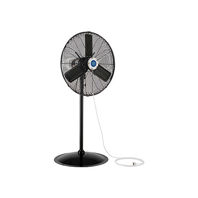 "24"" Pedestal Misting Fan - Outdoor Rated - Oscillating - 7700 CFM - 3/10 HP"