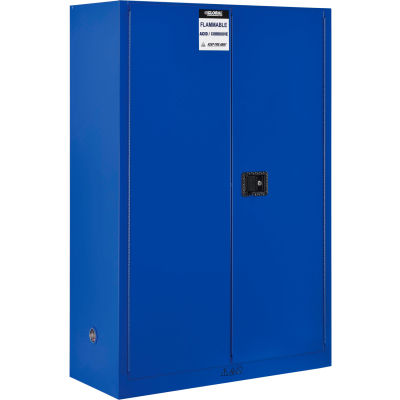 "Global Industrial™ Acid Corrosive Cabinet - 45 Gallon - Manual Close 43""W x 18""D x 65""H"