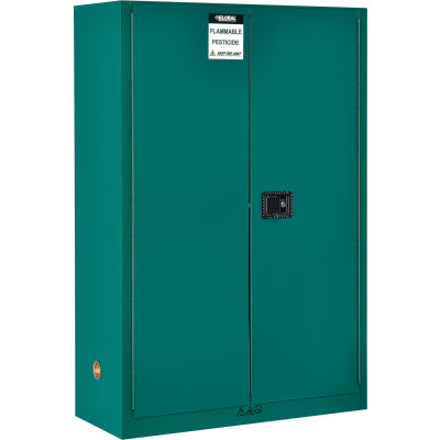 "Global Industrial™ Pesticide Storage Cabinet - 45 Gallon - Manual Close 43""W x 18""D x 65""H"