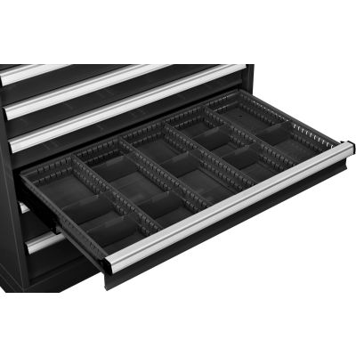 "Global Industrial™ Dividers for 4""H Drawer of Modular Drawer Cabinet 36""Wx24""D, Black"